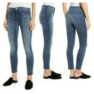 MOTHER High Waisted Looker Ankle Fray 30 Skinny